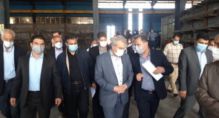وزیر صمت از ۴ واحد صنعتی شهرستان ایوان بازدید کرد